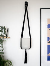 Load image into Gallery viewer, Macrame plant hanger black cotton - Knttd