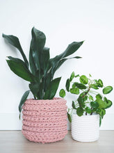 Load image into Gallery viewer, Large eco plant pot - blush - Knttd
