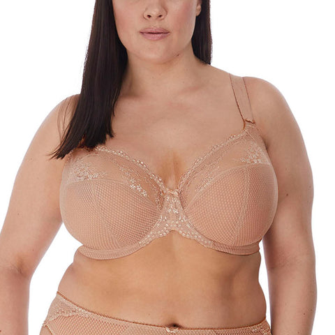 Charley Underwire Plunge Bra with Stretch Lace (Fawn)