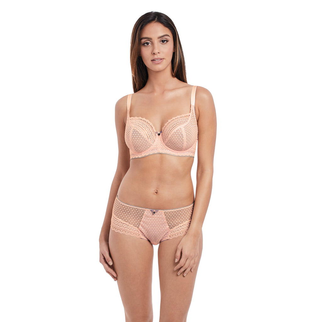 Daisy Lace Underwire Balcony Bra - up to a K cup