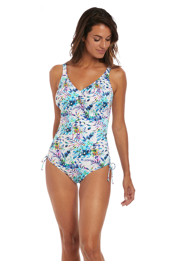 FIJI UNDERWIRE V-NECK SUIT with ADJUSTABLE LEG