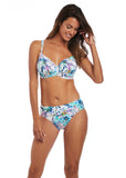 Fiji Underwire Gathered Full Cup Bikini Top
