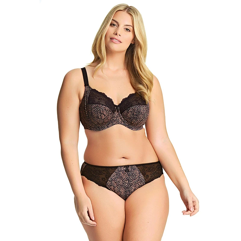 Morgan Underwire Banded Bra With Stretch Lace