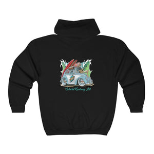 Some Like it Hot Hooded Sweatshirt feat. Nostalgic Beetle - Gerard Kearney Art Australia