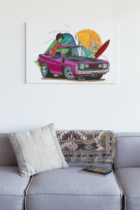 Hey Charger Original Painting feat. Chrysler Charger - Gerard Kearney Art Australia