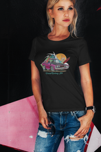 Load image into Gallery viewer, Hey Charger Women's Tee feat. Chrysler Charger - Gerard Kearney Art Australia