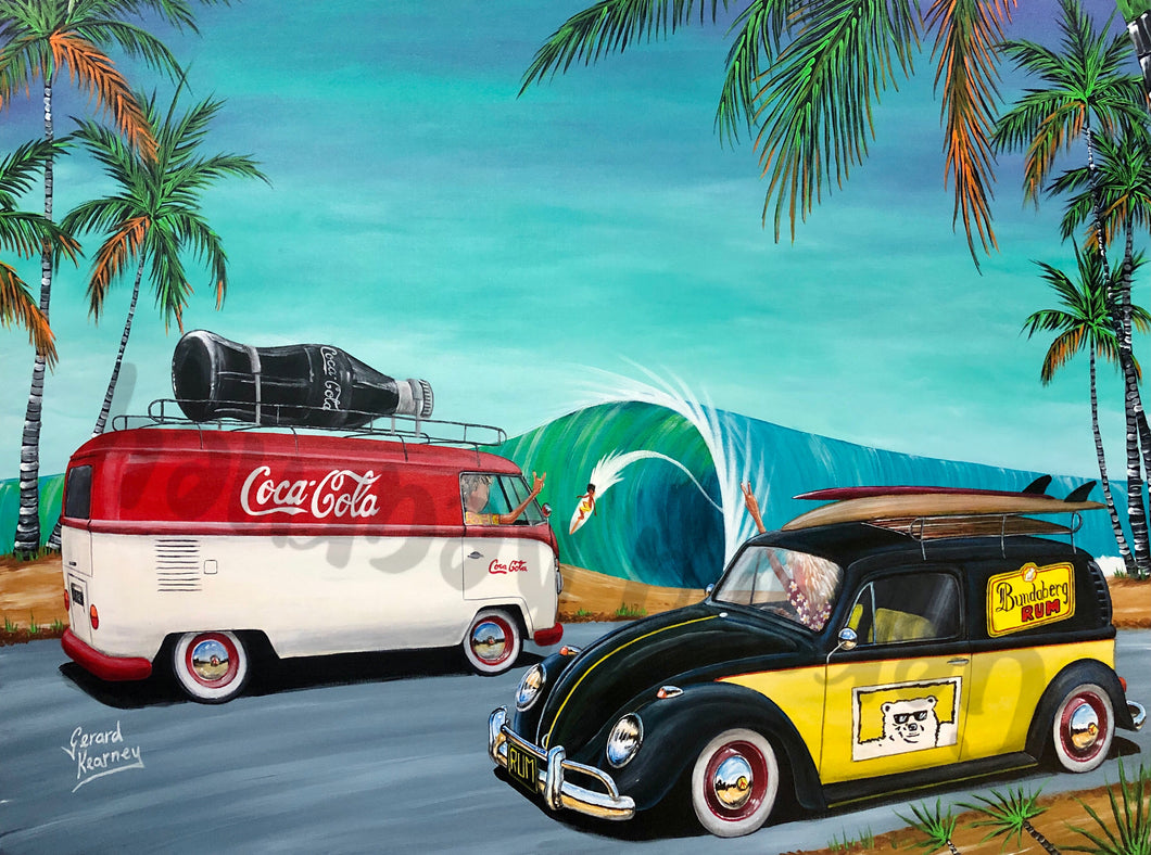 Rum and Coke Original Painting - Gerard Kearney Art Australia