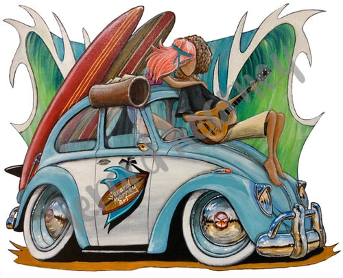 Some Like It Hot Print feat. Nostalgic Beetle - Gerard Kearney Art Australia