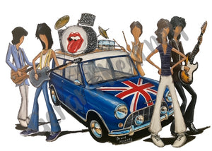 Start Me Up Original Painting feat. The Rolling Stones and Union Jack Mini - Gerard Kearney Art Australia