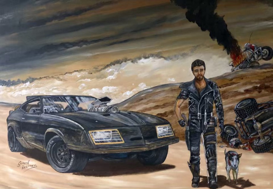 Valley of the Interceptor Original feat. Mad Max - Gerard Kearney Art Australia