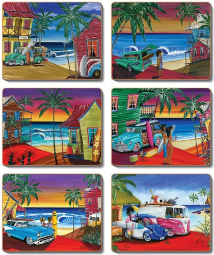 Wish You Were Here Placemats and Coasters - Gerard Kearney Art Australia