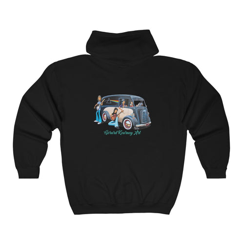 Dark Side of the Moon Hooded Sweatshirt feat. Pink Floyd and Morris J Type Van - Gerard Kearney Art Australia