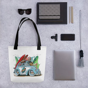 Some Like It Hot Tote bag feat. Nostalgic Beetle - Gerard Kearney Art Australia