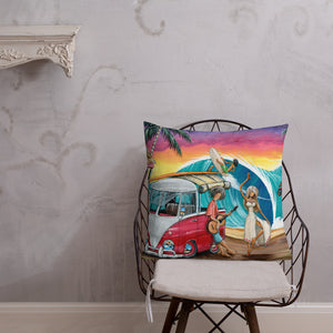 Let's Dance Premium Pillow - Gerard Kearney Art Australia