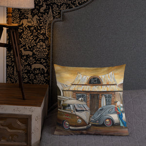 Surf Club Premium Pillow - Gerard Kearney Art Australia