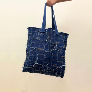 Patchwork Denim Shopping bag - ONE SIZE