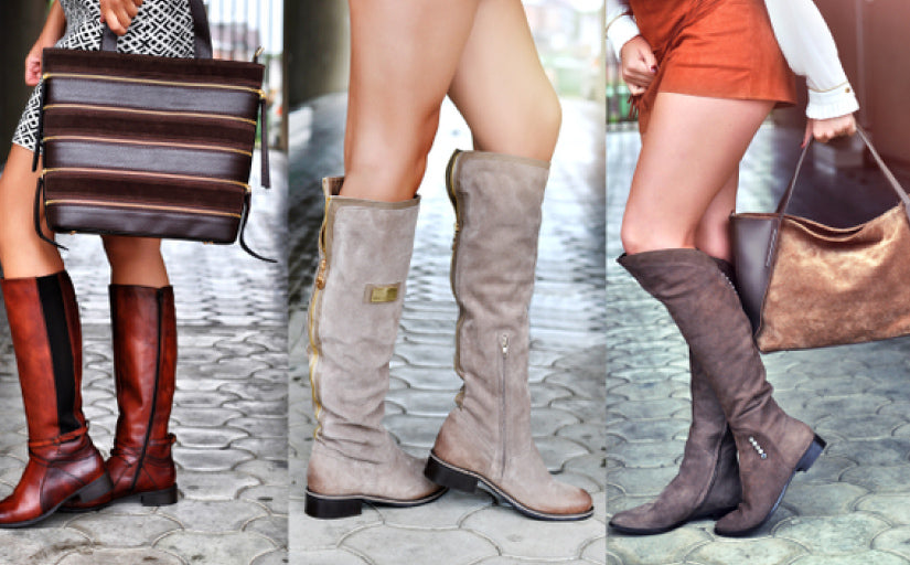 Woman's knee boots stay your feet warm and feel comfortable