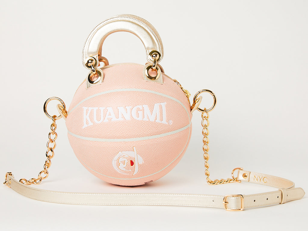 Peachy~Pink Basketball Bag