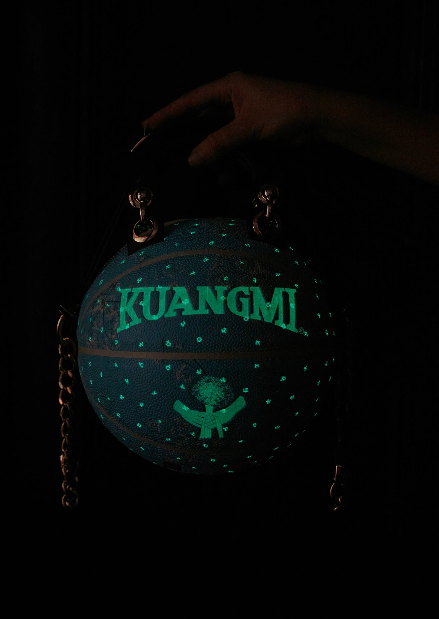 Glow-in-the-Dark Aqua Kuangmi Basketball Bag