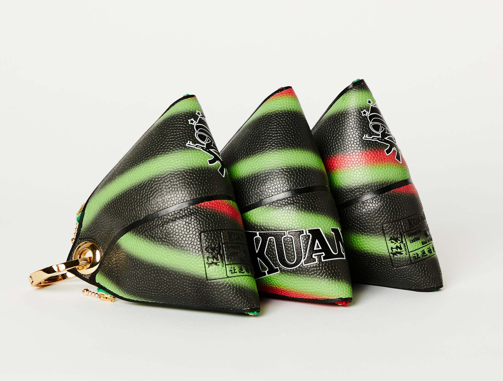 Clip~On Basketball Clutch (Red/Green/Black)