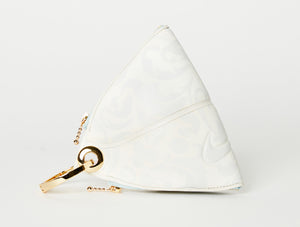 Clip~On Basketball Clutch (White Paisley)