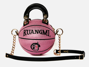 Pink Sparkle Basketball Bag
