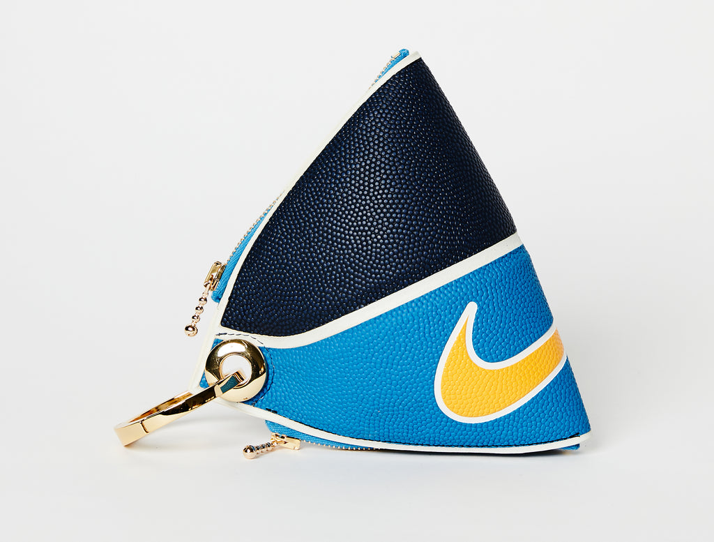Clip~On Basketball Clutch (Aqua/Navy Versa Tack)