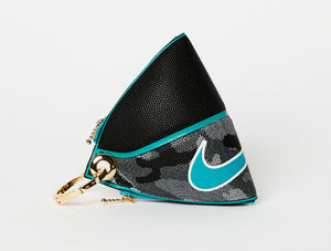 Clip~On Basketball Clutch (Black/Teal Versa Tack)