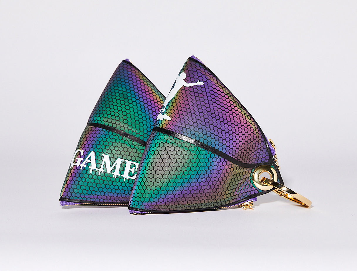 Clip~On Basketball Clutch (Holographic)