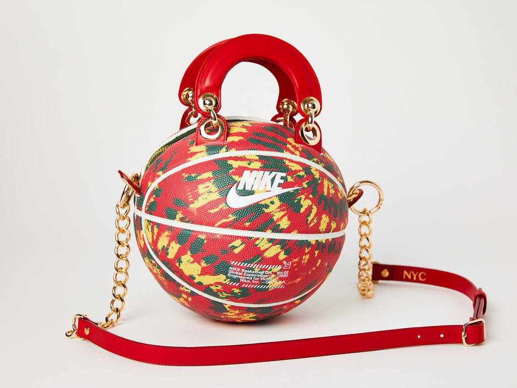 Red Nike Exploration Tie-Dye Basketball Bag
