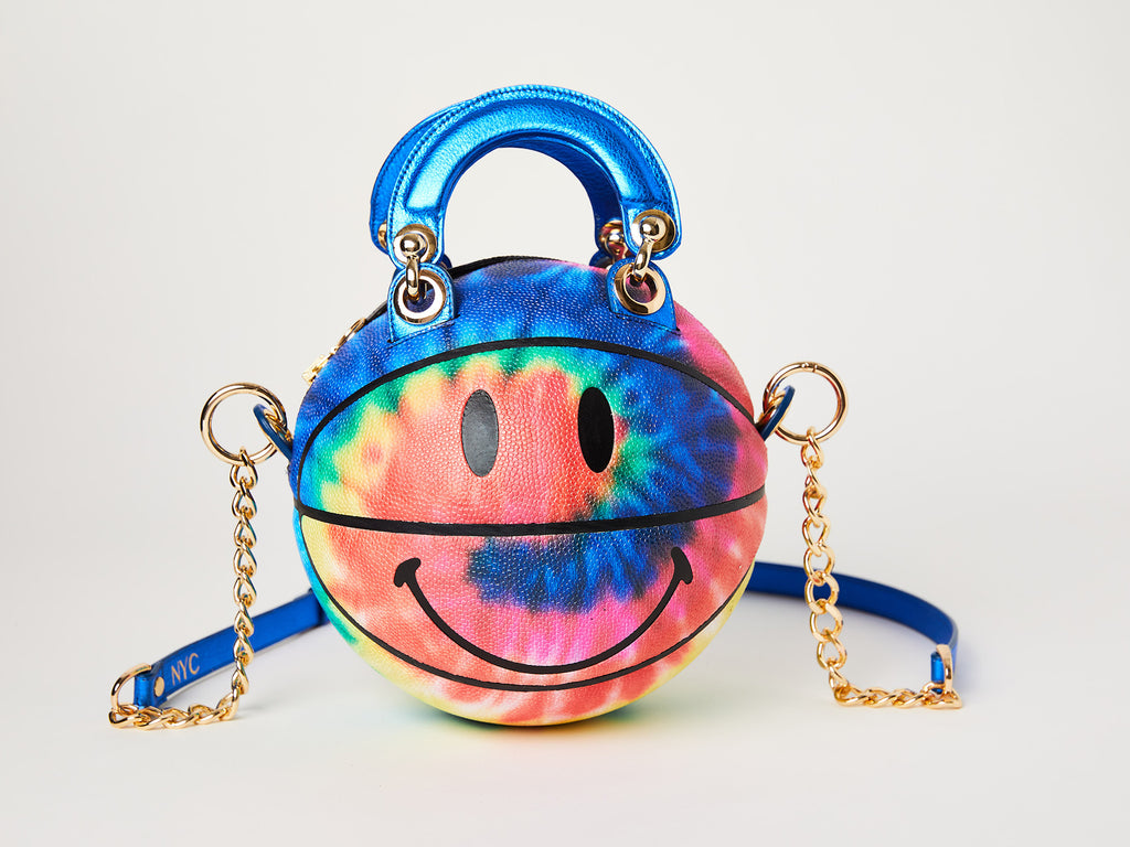 Smiley Tie-Dye Basketball Bag