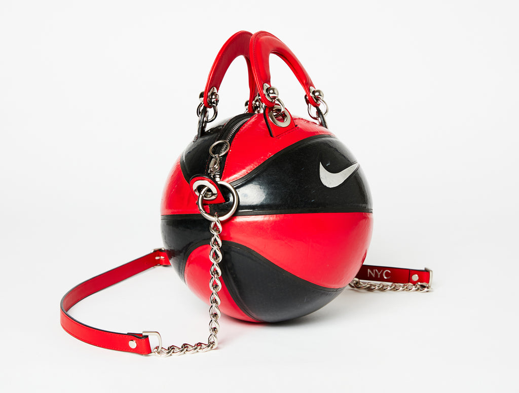 Red & Black Nike Vintage Basketball Bag