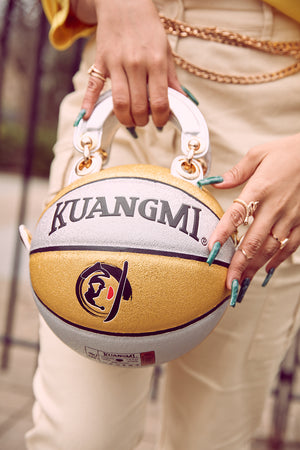 Gold and Silver Sparkle Basketball Bag