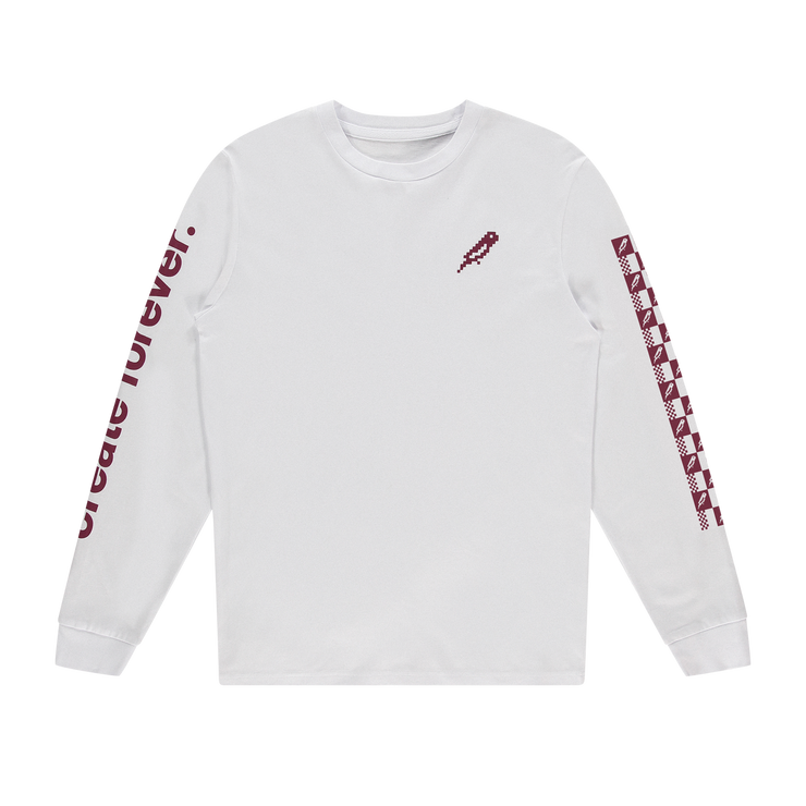 bitbird essential long sleeve tee - white