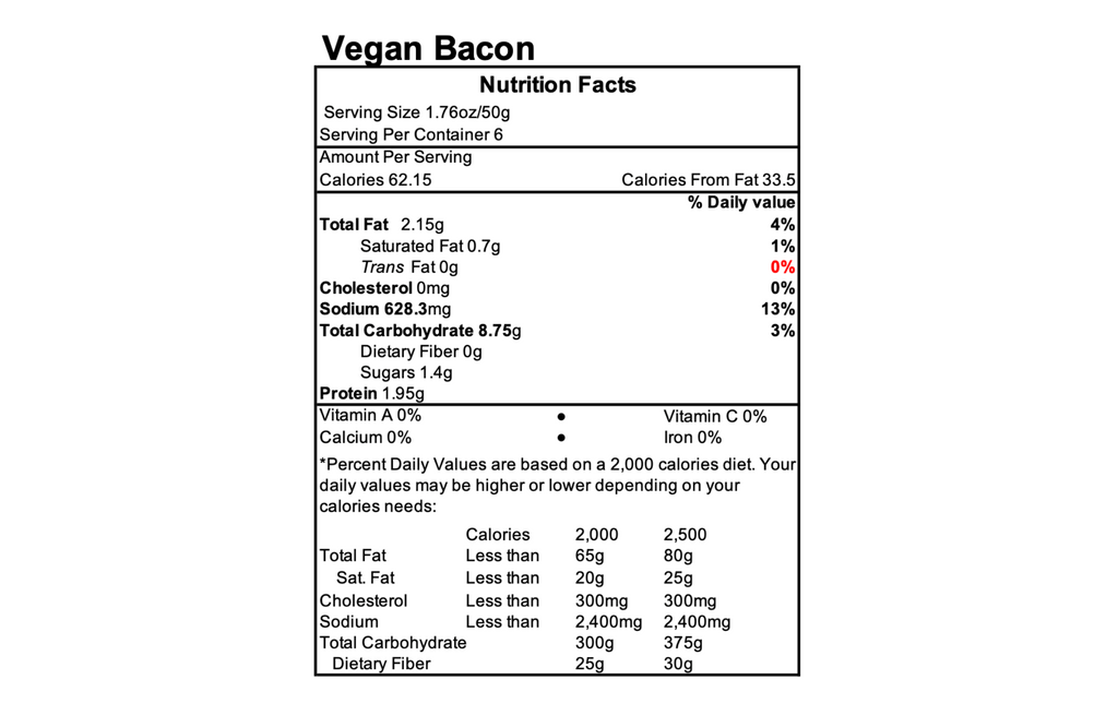Vegan Bacon Slices (6 Pack)