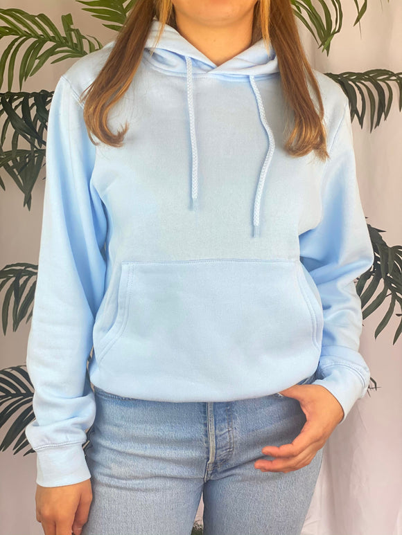 Jacques Fleece Hoodie (baby blue)