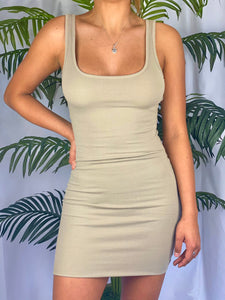 Amaya Tank Dress (taupe)
