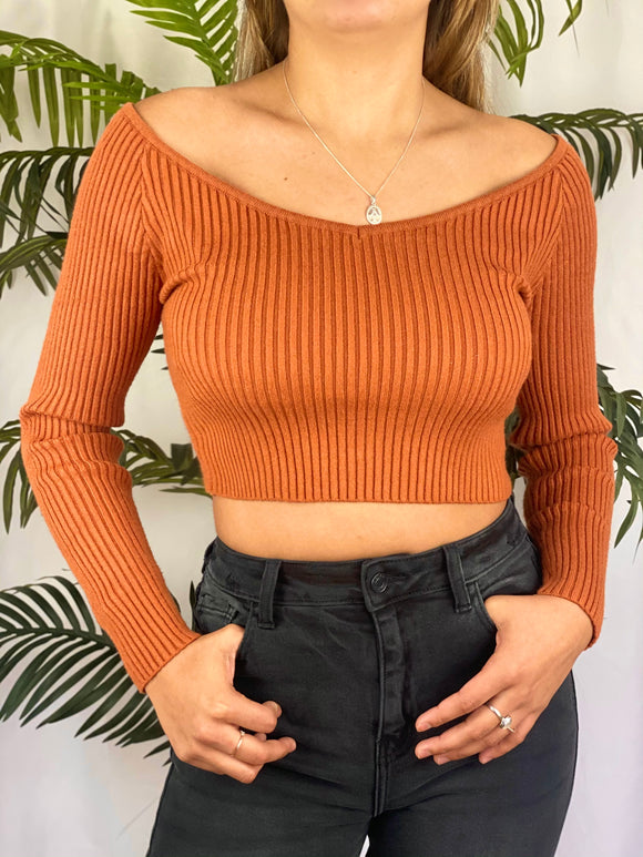 Sheila Knit Sweater (rust)