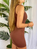 Sylvia Tank Dress (brown)