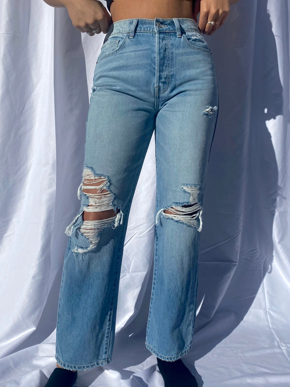 Paloma Ripped Dad Jeans