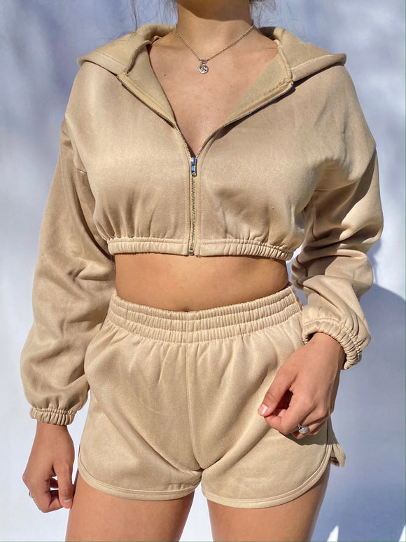 Stay Cozy Lounge Set (tan)