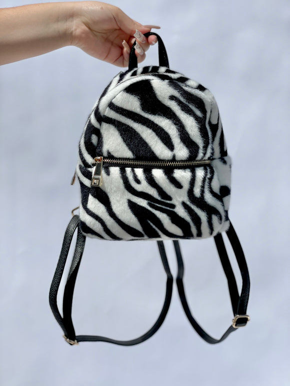 Zebra Fur Mini Backpack