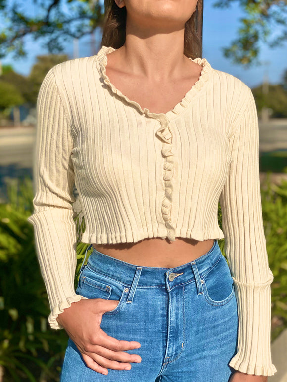 Delilah Ribbed Knit Sweater