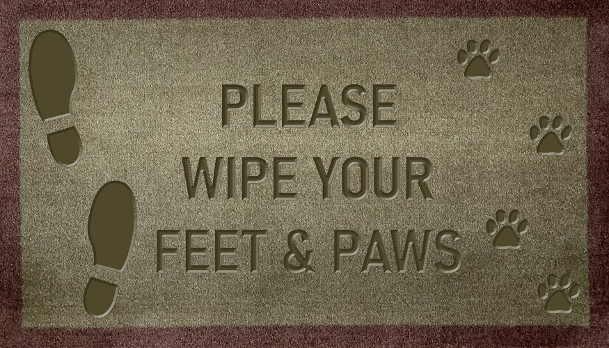 Please Wipe Your Feet & Paws (FR)