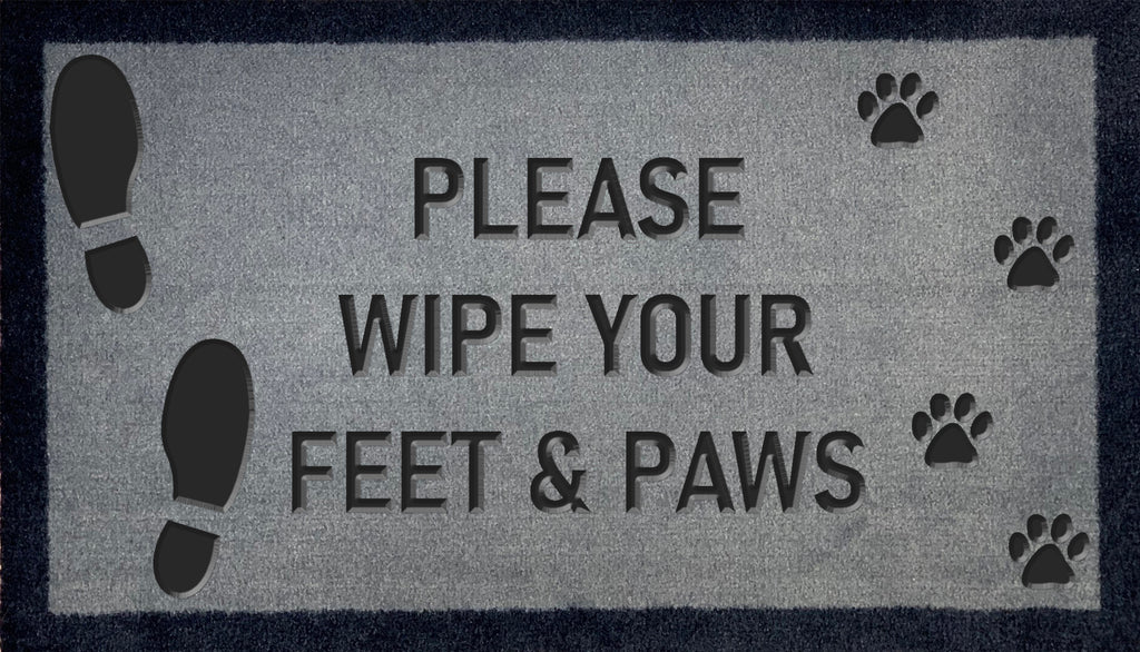 Please Wipe Your Feet & Paws