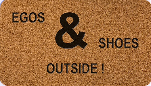 Egos & Shoes Outside!