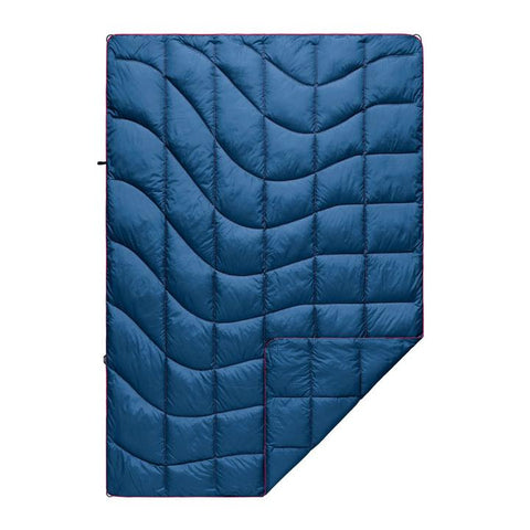 Rumpl blue quilted down blanket