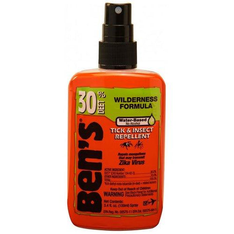 Orange bottle of Ben's Insect Repellant