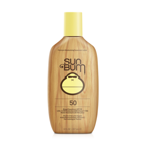 Bottle of Sun Bum SPF 50 sun screen