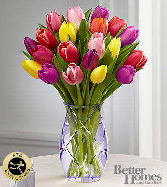 FTD® Spring Tulip Bouquet by Better Homes and Gardens®